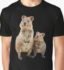 Quokka with Baby Cute Australian Teddy Bear Graphic T-Shirt