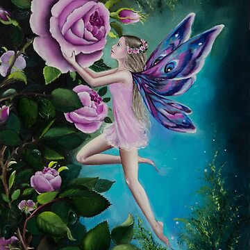 Pink rose  fairy faerie fantasy  by gabo2828