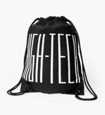 High tech white color Drawstring Bag