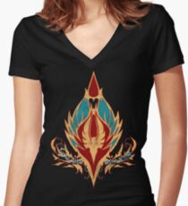 Crest of the Sin'dorei (Style 2) Women's Fitted V-Neck T-Shirt
