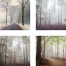 Sticker Set - Foggy Forest by Dominika Aniola