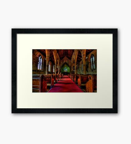 Rock Of Ages - The Garrison Church c.1843, The Rocks Sydney- The HDR Experience Framed Print