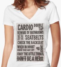 The Rules of Zombieland Women's Fitted V-Neck T-Shirt