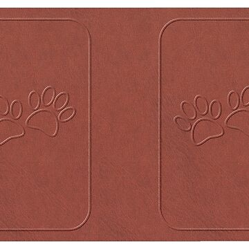 Dog Paw Prints Faux Leather by Almdrs