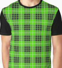 Scotland Woodcutter Buffalo Check Design - Green Color Model Graphic T-Shirt