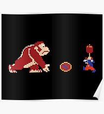 Retro Donkey Kong Poster