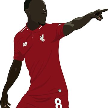 Naby Keita No. 8 by DanDobsonDesign