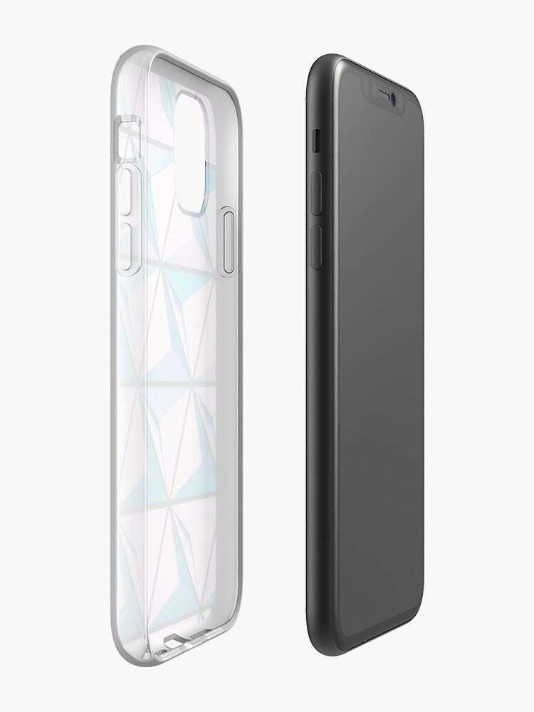 Coque iPhone «formes 3d géométriques cool violet bleu», par tcrund12