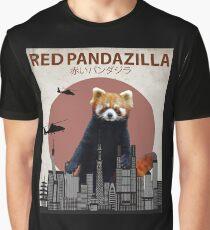 Red Pandazilla Red Panda Giant Monster Parody Graphic T-Shirt