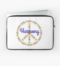 Harmony Images Holding Hands Colorful Peace Sign Laptop Sleeve