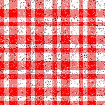 Red White Patchy Marble Tartan Pattern by MarkUK97