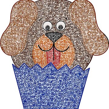 Dog Cupcake by emilykcreations