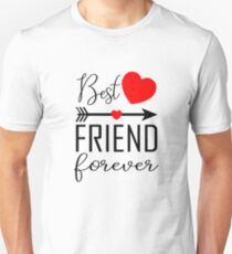 Best friend Forever Right Arrow Slim Fit T-Shirt