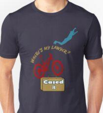 Where's my lawyer? - Cased it MTB Tee Unisex T-Shirt