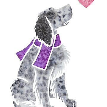 Watercolour English Setter by animalartbyjess