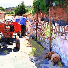 Borrello: the man the tractor and the dog by Giuseppe Cocco