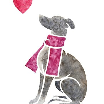 Watercolour Italian Greyhound by animalartbyjess
