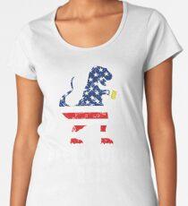 Beer Saurus Rex US Women's Premium T-Shirt