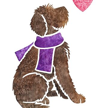 Watercolour Labradoodle by animalartbyjess