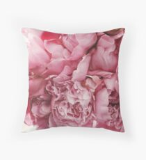 Blooming Pink Flowers Throw Pillow