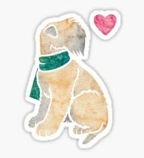 Watercolour Soft-coated Wheaten Terrier dog Sticker