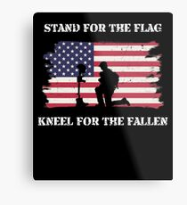 Stand For The Flag Kneel For The Fallen Metal Print
