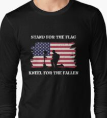 Stand For The Flag Kneel For The Fallen Long Sleeve T-Shirt