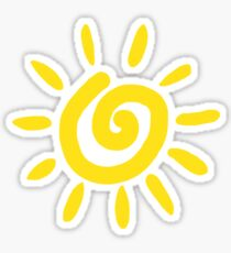 yellow swirl sun Sticker