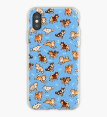 shibes in light blue iPhone Case