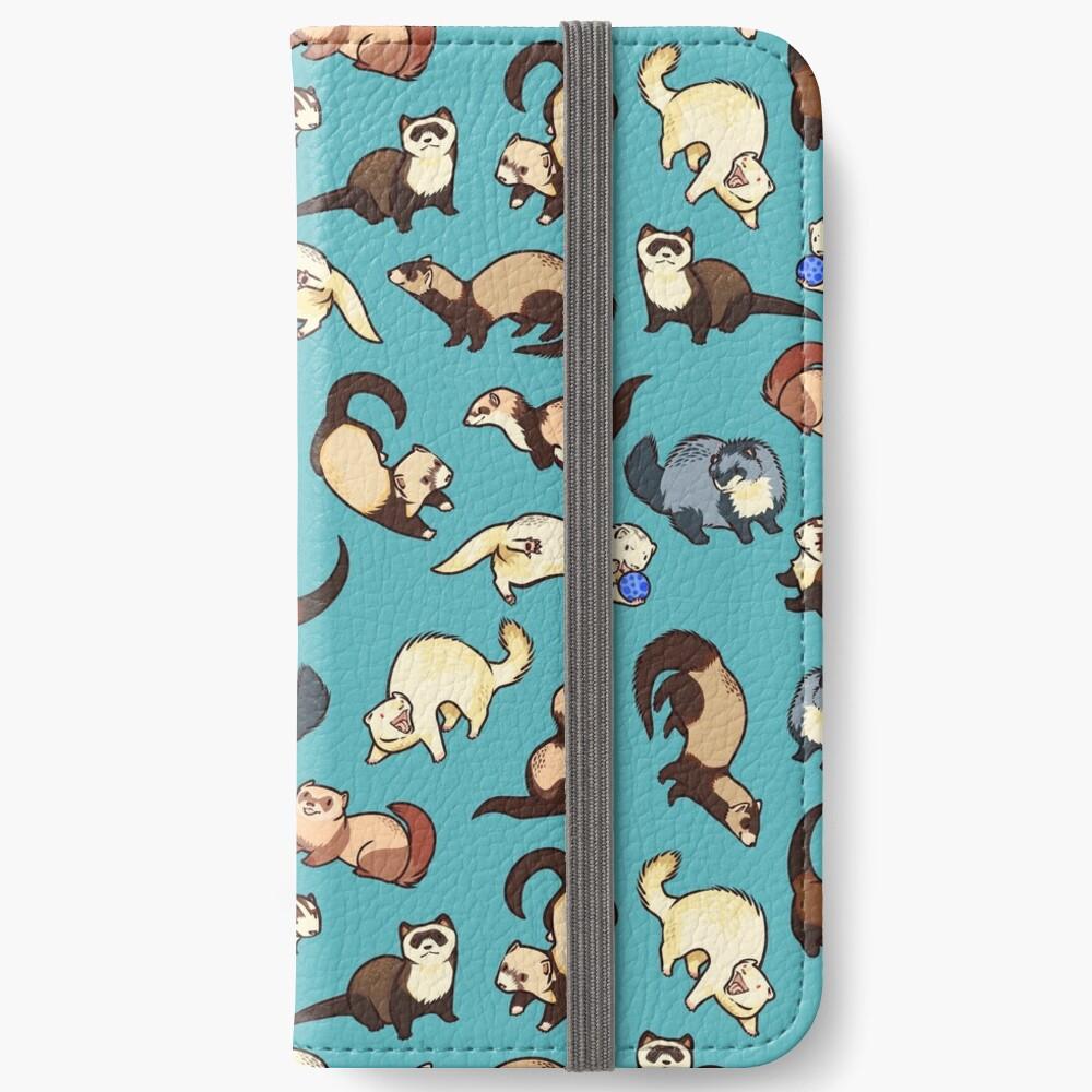 Katzenschlangen in blau iPhone Flip-Case