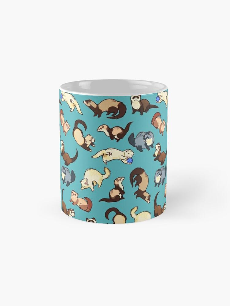 Alternative Ansicht von Katzenschlangen in blau Tassen