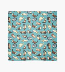 chat serpents en bleu Foulard