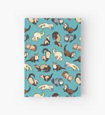 cat snakes in blue Hardcover Journal