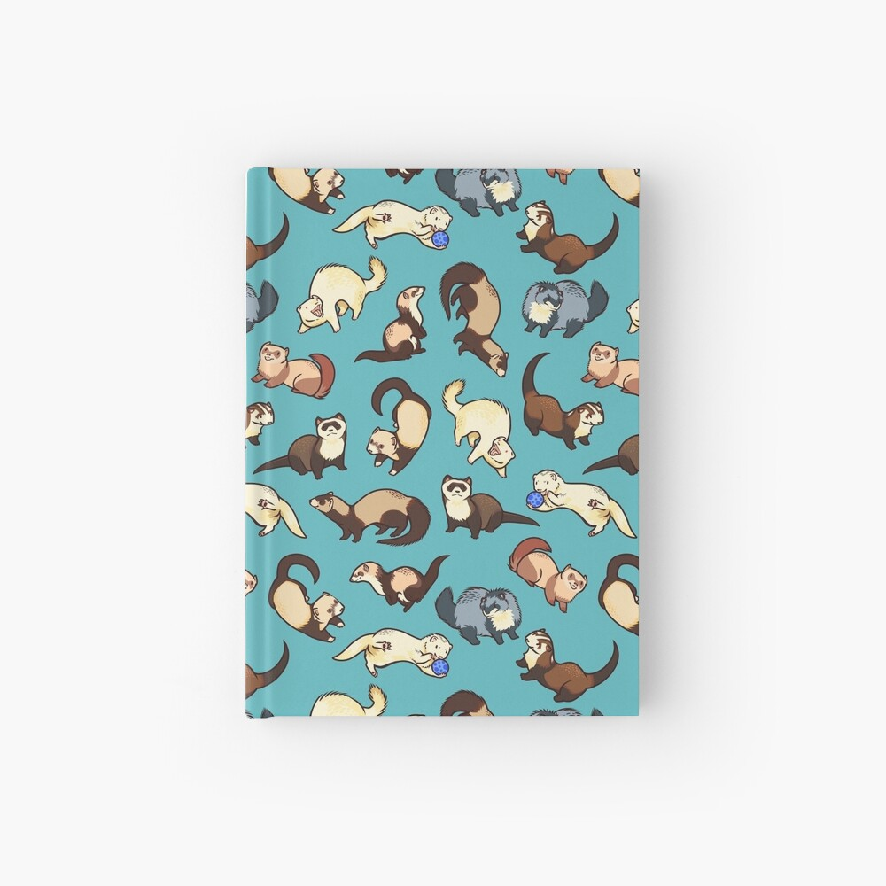 cat snakes in blue Hardcover Journal