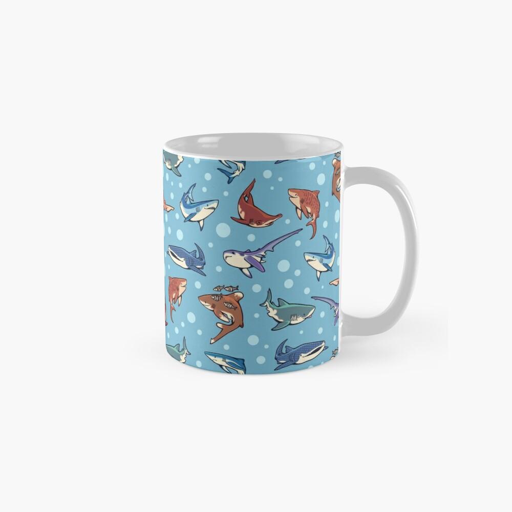 Sharks in the light blue Standard Mug