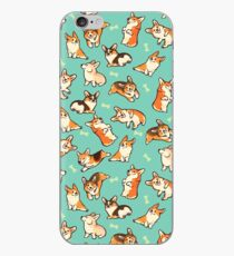 Jolly corgis in green iPhone Case