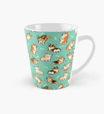 Jolly corgis in green Tall Mug