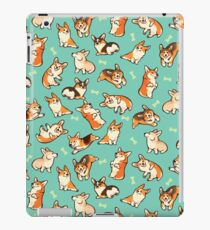 Jolly corgis in green iPad Case/Skin