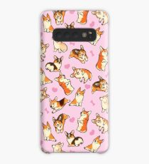 Lovey corgis in pink Case/Skin for Samsung Galaxy