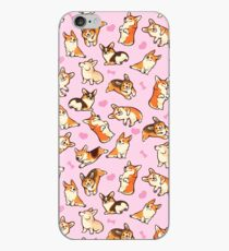 Lovey corgis in pink iPhone Case