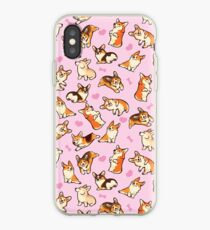 Lovey Corgis in Rosa iPhone-Hülle & Cover