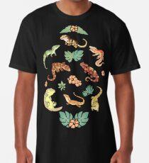 Camiseta larga Familia Gecko en verde