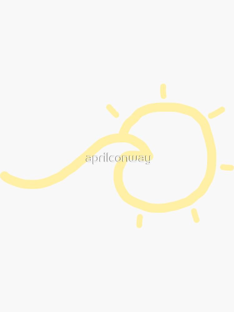 «vague en jaune soleil» par aprilconway