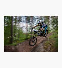 Downhill Race Photographic Print