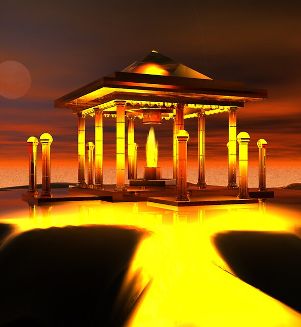 Temple of Sacred Flame 2 by Hugh Fathers