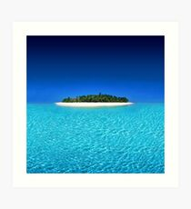 Exotic Private Island  Art Print