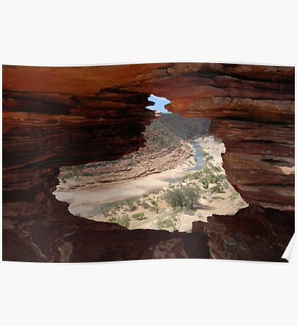 Nature's Window Kalbarri National Park WA Poster