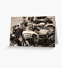 Vintage Motorcycles Greeting Card