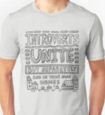 Camiseta unisex Los introvertidos se unen pero por separado y en sus propios hogares