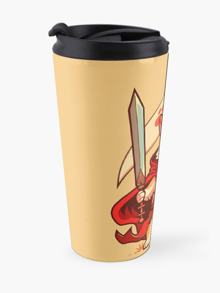 Alternate view of Corgi knight Travel Mug